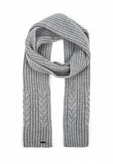 Мужской серый осенний шарф