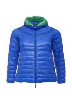 Женская зеленая синяя утепленная осенняя куртка