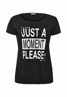 Женская черная итальянская футболка