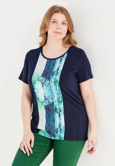 Женская синяя футболка Fiorella Rubino