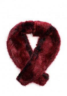 Женский бордовый осенний летний шарф воротник