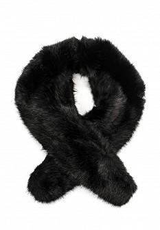 Женский черный осенний летний шарф воротник