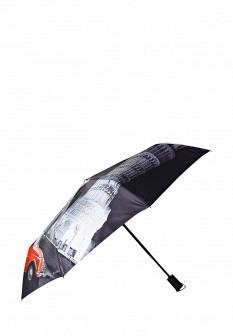 Женский красный серый осенний зонт