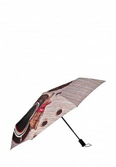 Женский коричневый осенний зонт