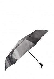 Женский серый осенний зонт