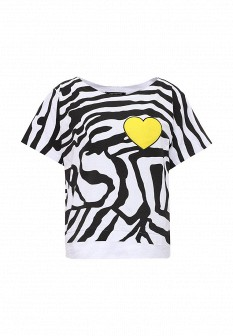 Женская белая черная итальянская футболка