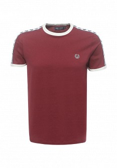Мужская бордовая футболка Fred Perry