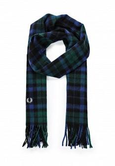 Мужской зеленый синий осенний шарф