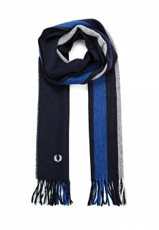 Мужской синий осенний шарф Fred Perry