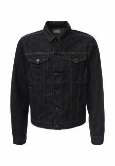 Мужская серая осенняя джинсовая куртка