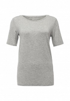 Женская серая осенняя домашняя футболка