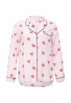 Женская розовая рубашка