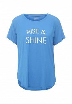 Женская синяя домашняя футболка