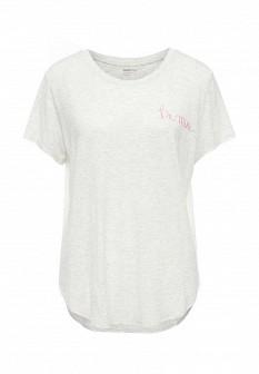 Женская серая домашняя футболка