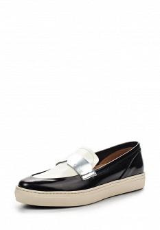 Женские белые черные кожаные туфли лоферы