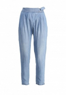 Женские голубые итальянские осенние брюки