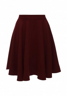 Бордовая осенняя юбка Gloss