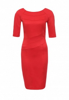 Красное осеннее платье Gloss