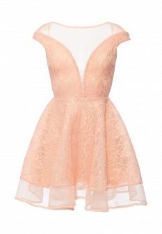 Коралловое платье Goddiva