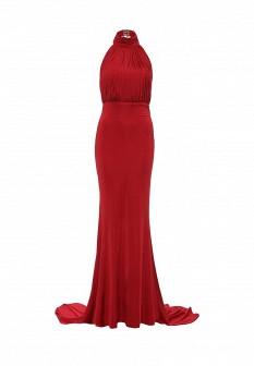 Бордовое осеннее платье Goddiva
