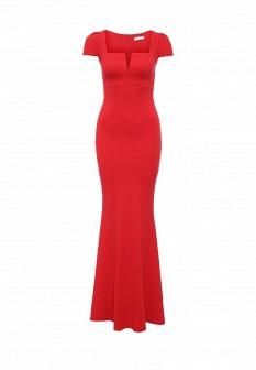Красное осеннее платье Goddiva