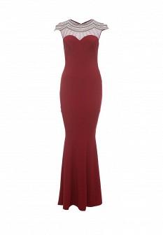 Бордовое платье Goddiva