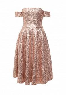 Бежевое платье Goddiva