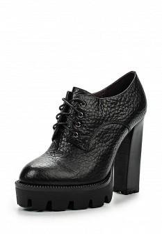 Женские черные осенние кожаные ботильоны