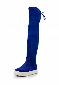 Синие осенние ботфорты Grand Style