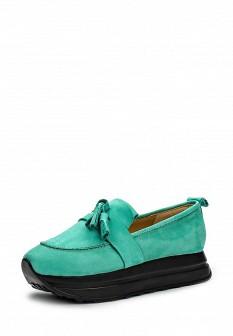 Женские мятные туфли лоферы