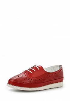 Женские красные кожаные ботинки