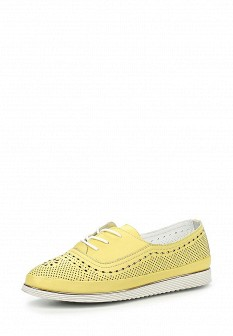 Женские желтые кожаные ботинки