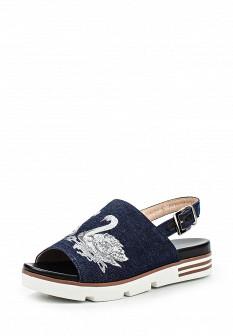 Женские синие сандалии Grand Style