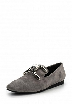 Женские серые туфли лоферы Grand Style