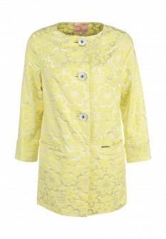 Женское желтое осеннее пальто