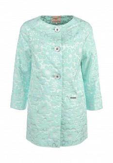 Женское голубое осеннее пальто