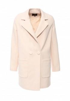 Женское розовое осеннее пальто
