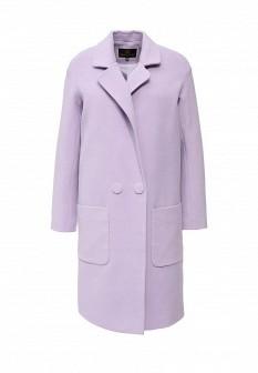 Женское фиолетовое осеннее пальто