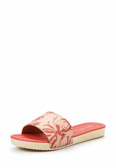 Женские розовые кожаные летние шлепанцы