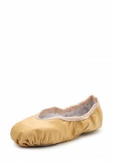Женские бежевые осенние кожаные балетки