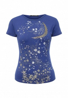 Женская синяя осенняя футболка