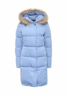 Женская голубая синяя утепленная осенняя куртка