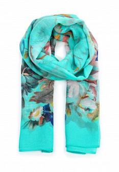 Женский бирюзовый осенний летний шарф
