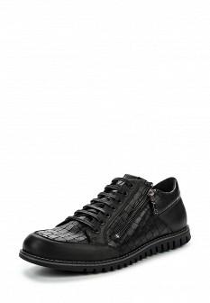 Мужские черные осенние кожаные кроссовки