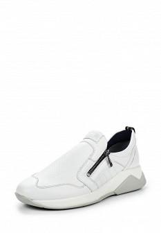 Мужские белые кожаные кроссовки