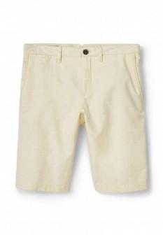 Мужские желтые осенние джинсовые шорты