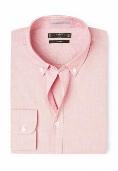 Мужская розовая рубашка MANGO MAN