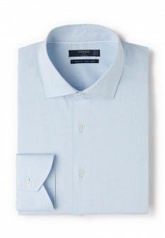 Мужская голубая рубашка MANGO MAN