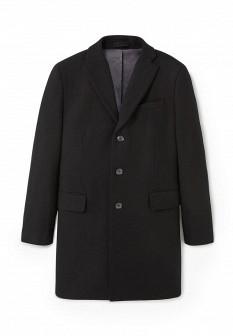 Мужское черное осеннее пальто
