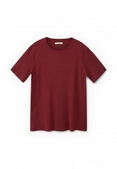 Мужская бордовая осенняя футболка